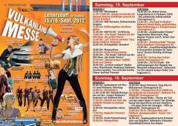 Leitersdorf im Raabtal 15./16. Sept. 2012 5.-
