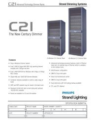 C21 Dimming System - Strand Lighting