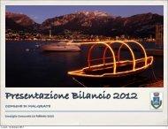Presentazione Bilancio 2012 - Comune di Malgrate