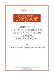 Gh SpeechtoPope,v.12,Eng,9.5.09 (FINAL).indd - The Royal Islamic ...