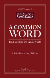 A Common Word - The Royal Islamic Strategic Studies Centre