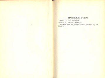 Modern Judo Volume 1 - Judo Information Site