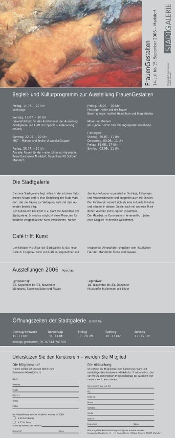 Frauengestalten - Kunstverein Markdorf