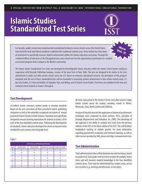 Testing School Flyer (pdf) - IQRA