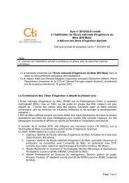 Avis ENI Metz - Commission des Titres d'Ingénieur