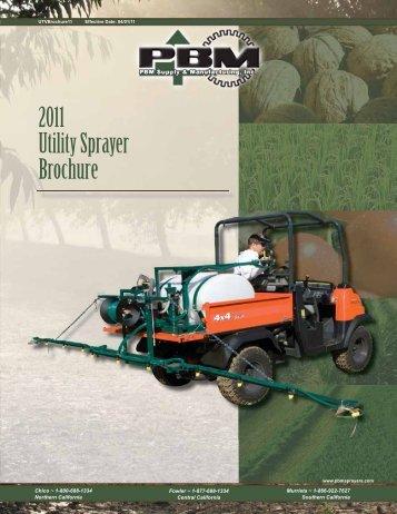 2011 Utility Sprayer Brochure - PBM Supply & Mfg.