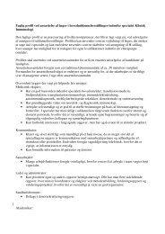 Faglig profil ved ansættelse af læger i hoveduddannelsesstillinger ...