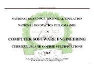 COMPUTER SOFTWARE ENGINEERING - NBTE