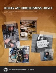 2011 Hunger and Homelessness Survey - U.S. Conference of Mayors