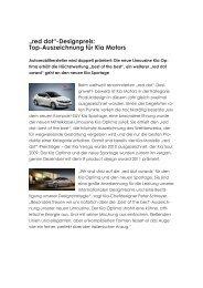 """""""red dot""""-Designpreis: Top-Auszeichnung für Kia Motors - Mobil-Sein"""
