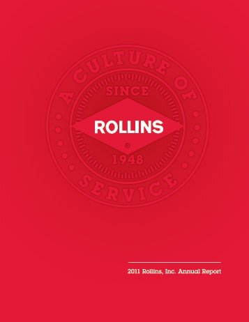 2011 Rollins, Inc. Annual Report - Thecorporatelibrary.net