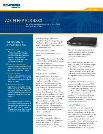 ACCELERATOR 4830 - Interlink Communication Systems