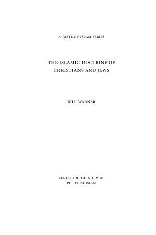 the islamic doctrine of christians and jews - Center for the Study of ...