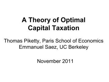 Various seminars, November 2011-May 2012 (pdf) - Thomas Piketty