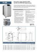 Fali és álló kivitelÛ ipari kondenzációs gázkazánok - Rendamax - Page 6
