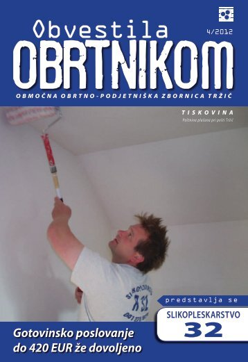 Obvestila april 2012 - Območna obrtno-podjetniška zbornica Tržič