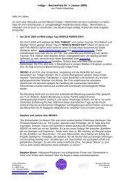 Indigo – Nachrichten Nr. 1 (Januar 2005) - Indigoheart