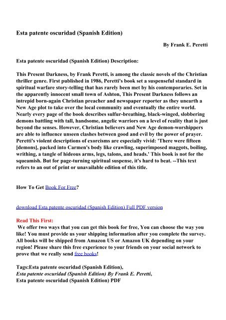 Esta patente oscuridad (Spanish Edition) - PDF eBooks Free