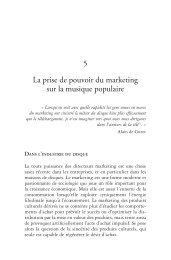 5 La prise de pouvoir du marketing sur la musique populaire - Pearson
