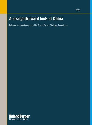 A straightforward look at China - Roland Berger