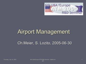 Airport Management Rapporteur - ATM Seminar