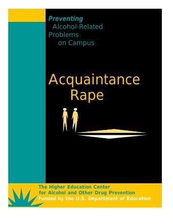 Acquaintance Rape - Center for Problem-Oriented Policing