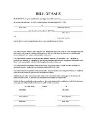 Bill of Sale Template and Checklist - USUA Flying Club 1