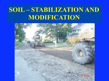 SOIL – STABILIZATION AND MODIFICATION - EJ Breneman, LP