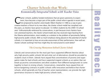 Charter Schools that Work - The Century Foundation