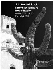 SLAT Roundtable Program 2012.pdf - University of Arizona