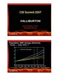 HALLIBURTON CSI Summit 2007 - Clean Technology and ...