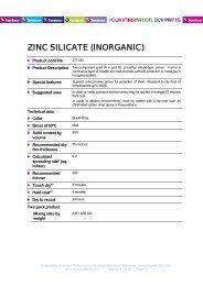 ZINC SILICATE (INORGANIC) - Tambour Paints