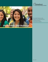 The Financial Aid Challenge - College Board Advocacy & Policy ...