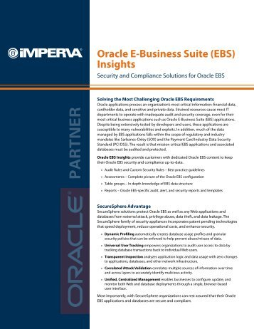 Oracle E-Business Suite (EBS) Insights - Imperva