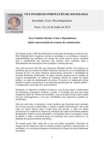 Direito, Crime e Dependências - Associação Portuguesa de ...