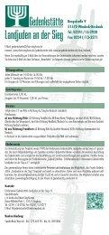 Programm Gedenkstätte 2. Halbjahr 2013 - Rhein-Sieg-Kreis