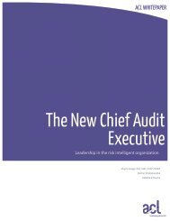 New Chief Audit Executive - Acl.com
