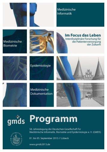 Das Programmheft der GMDS 2013