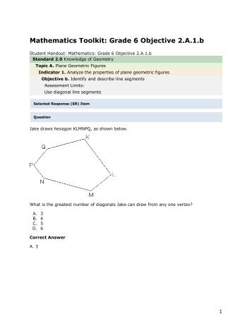 Mathematics grade 6 2.A.1.b - mdk12