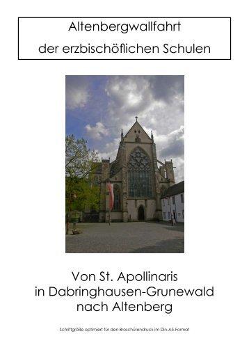 Dabringhausen - Altenberg - Erzbistum Köln