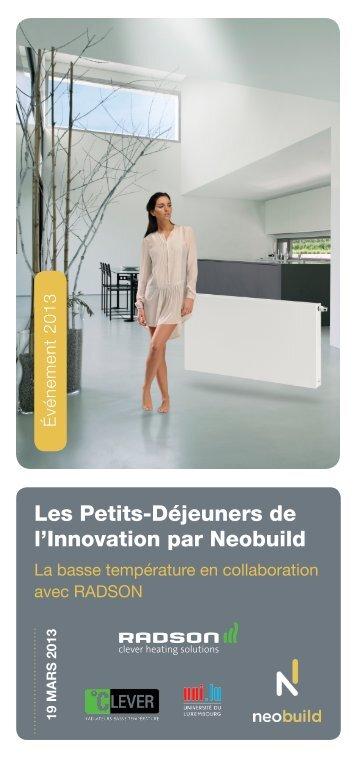 Les Petits-Déjeuners de l'Innovation par Neobuild