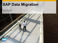 SAP Data Migration - Afsug