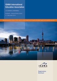 ISANA International Education Association - Conference Design Pty ...
