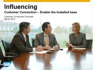 Influencing Customer Connection - Afsug