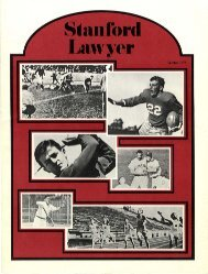 Winter 1975 – Issue 16 - Stanford Lawyer - Stanford University