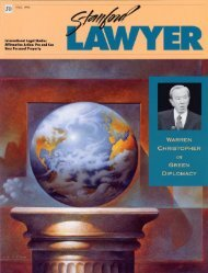 Fall 1996 – Issue 50 - Stanford Lawyer - Stanford University