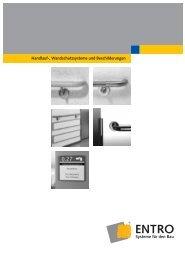 Handlauf-, Wandschutzsysteme und ... - Entro Systeme Für Den Bau