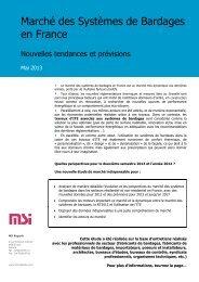 Le Marché des Bardages en France - MSI Marketing