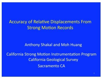 Accuracy of Relative Displacements Computed from Strong ... - PEER