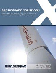 SAP Upgrades Brochure - DataXstream